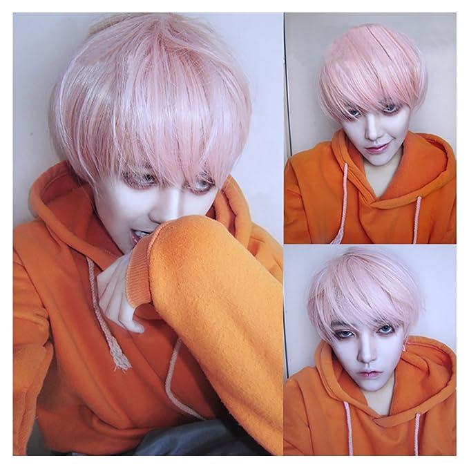 Master Green Wig Men Boy Cosplay Head Hair 35cm Wig Fashion H3#