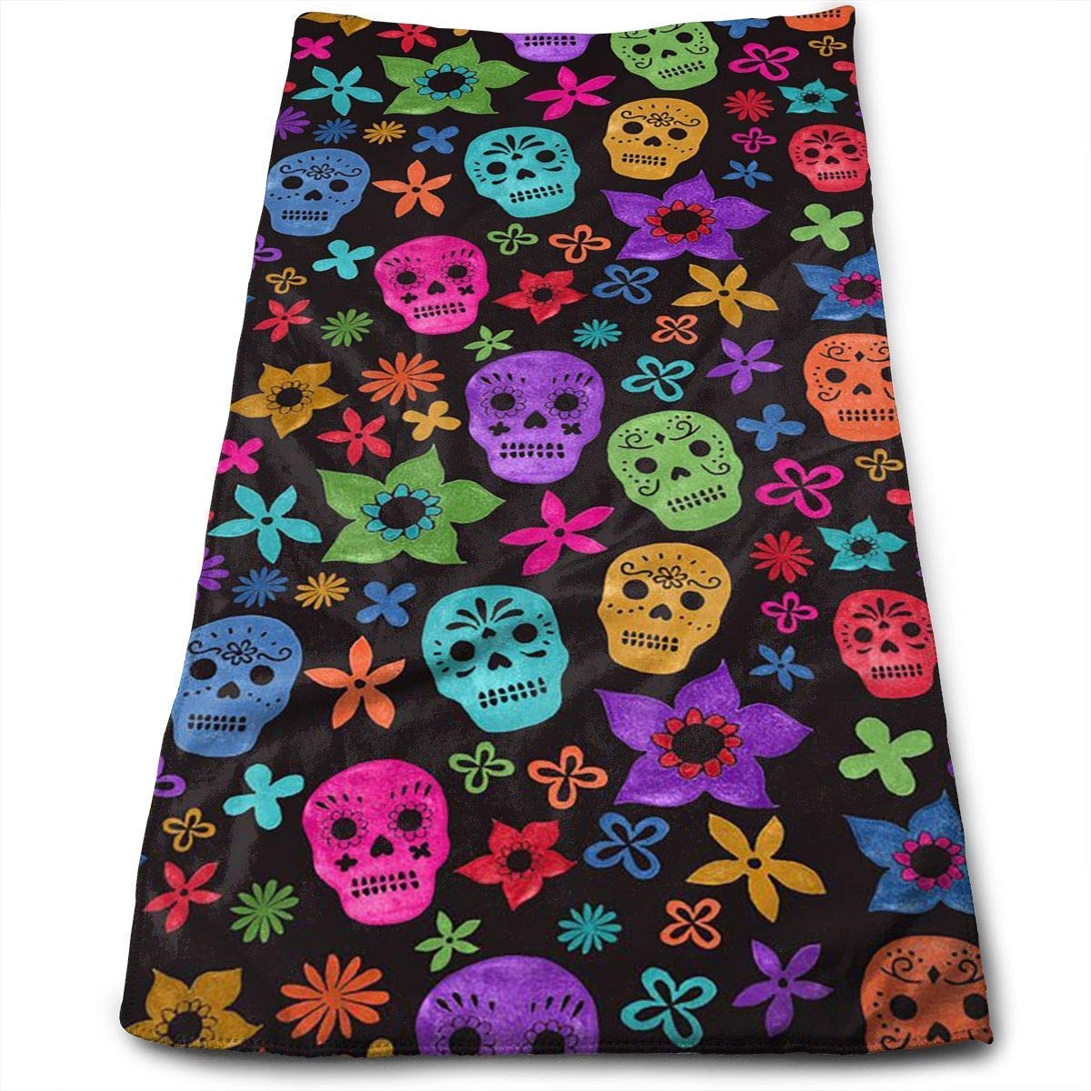 """WCMBY 2019 New Bath Towels Halloween Wallpaper Skull Face Towels Highly Absorbent Washcloths Multipurpose Towels for Hand Face Gym and Spa 12"""" X 27.5"""""""
