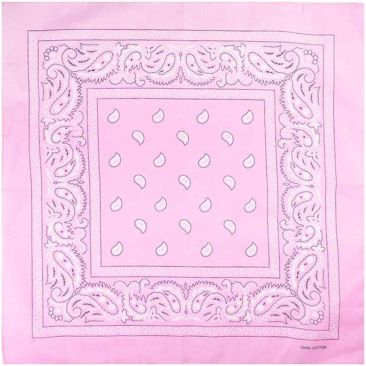 Paisley-Pink Bandana Scarf Head Scarf Neck Scarf Paisley Various Colours Unisex Men Women Bandana Scarf