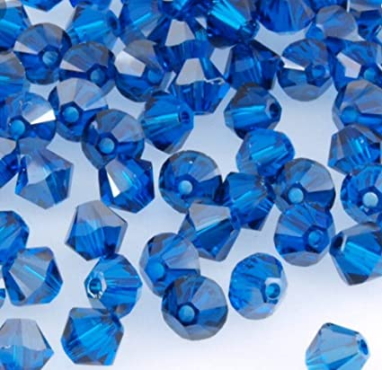 0a53ddea11a85 jennysun2010 100Pcs Capri Blue Top Quality Czech Crystal Faceted Bicone  Beads 5mm for Bracelet Necklace Earrings Jewelry Making Crafts Design