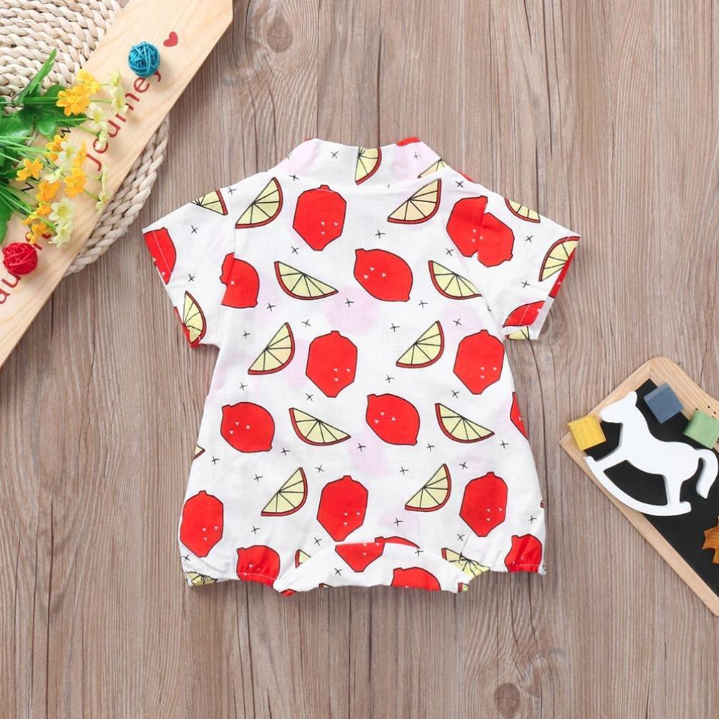 WARMSHOP Newborn Girls/&Boys Lemon Printing Japan Kimono One-Piece Sunsuit 100/% Cotton Soft Summer Romper Creepers Bodysuit
