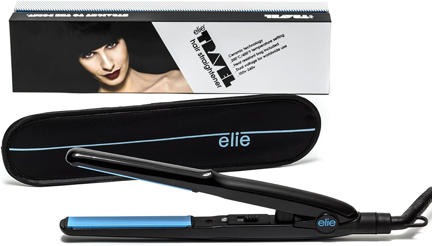 Elie HS 039 Straightener Dual Voltage for Worldwide 110v 240v (Travel)