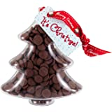 """Christmas Tree - """"It's Christmas!"""" Chocolate Tree. From the Belgian Milk Chocolate 'Button-its' Gifts range."""
