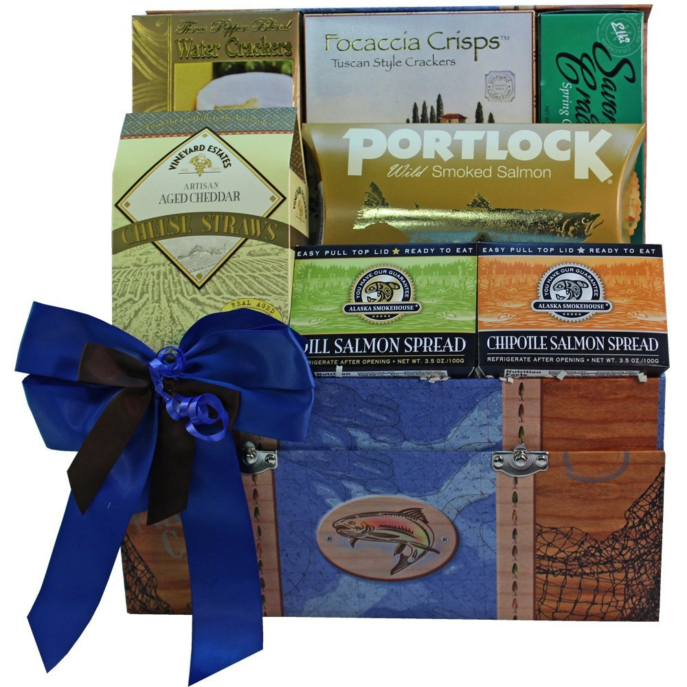 Smoked Salmon Seafood Gourmet Food Gift Box by Art of Appreciation Gift Baskets