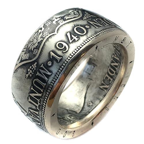 Dutch Coin Ring Netherlands 2 12 Silver Gulden Guilder Rings