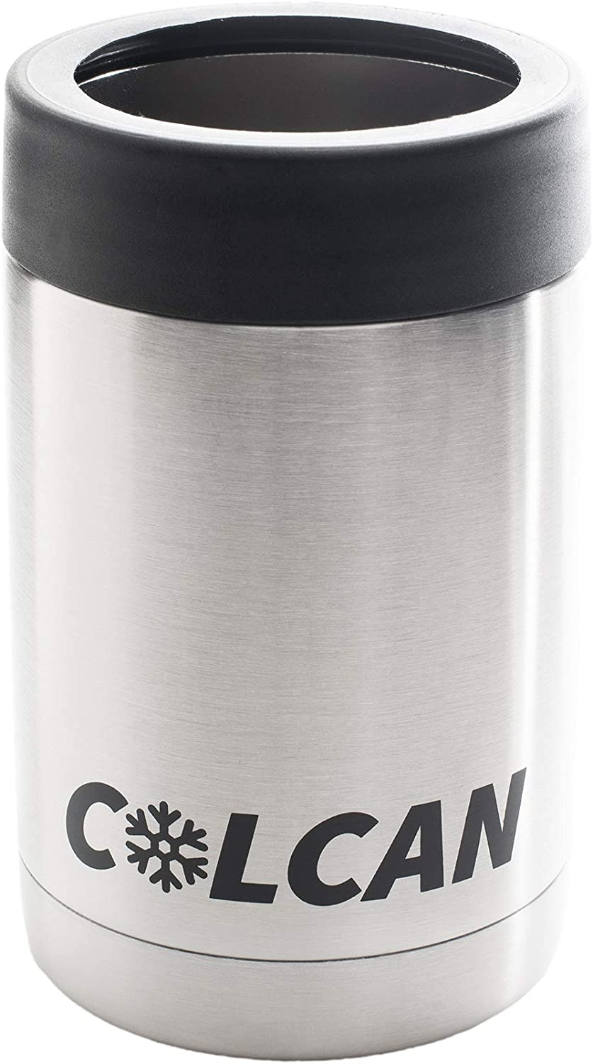 Colcan 12oz Stainless Steel Double Insulated Can Cooler for Beer and Soda