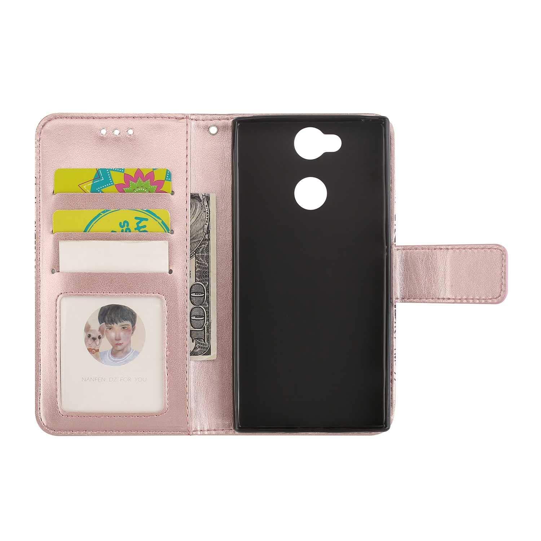 Magnetisch Verschluss Handyh/ülle f/ür Sony Xperia XA2 CAXPRO/® Leder Schutzh/ülle mit Klappfunktion Sony Xperia XA2 H/ülle Rose Gold Kratzfestes Tasche
