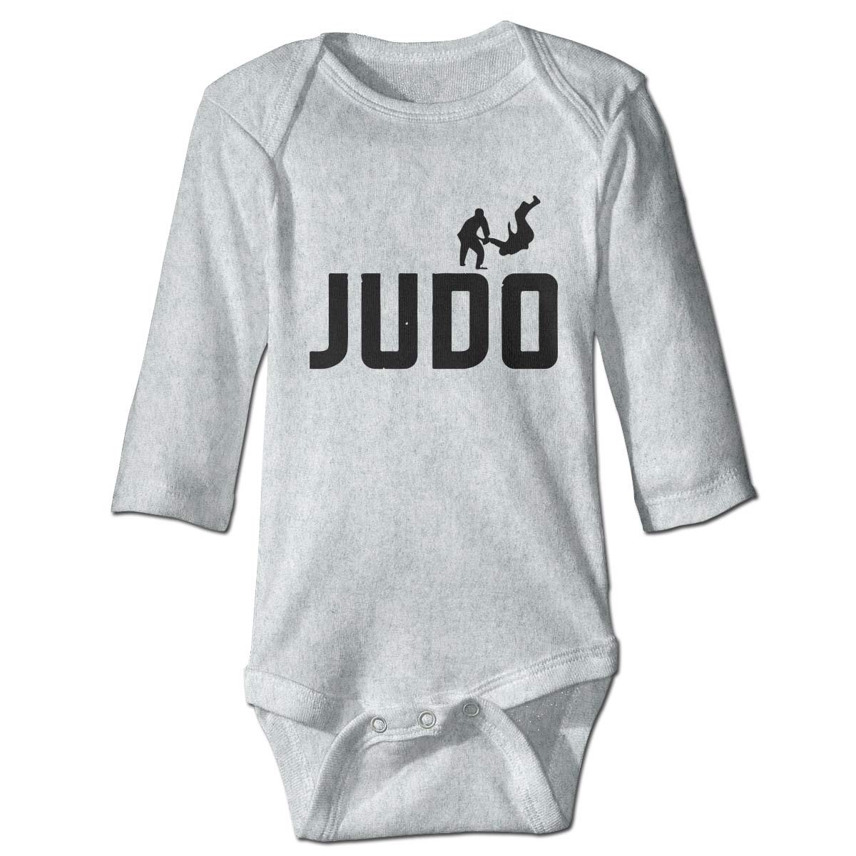 A14UBP Newborn Baby Boys Girls Long Sleeve Romper Bodysuit Judo Fighter-1 Unisex Button Playsuit Outfit Clothes