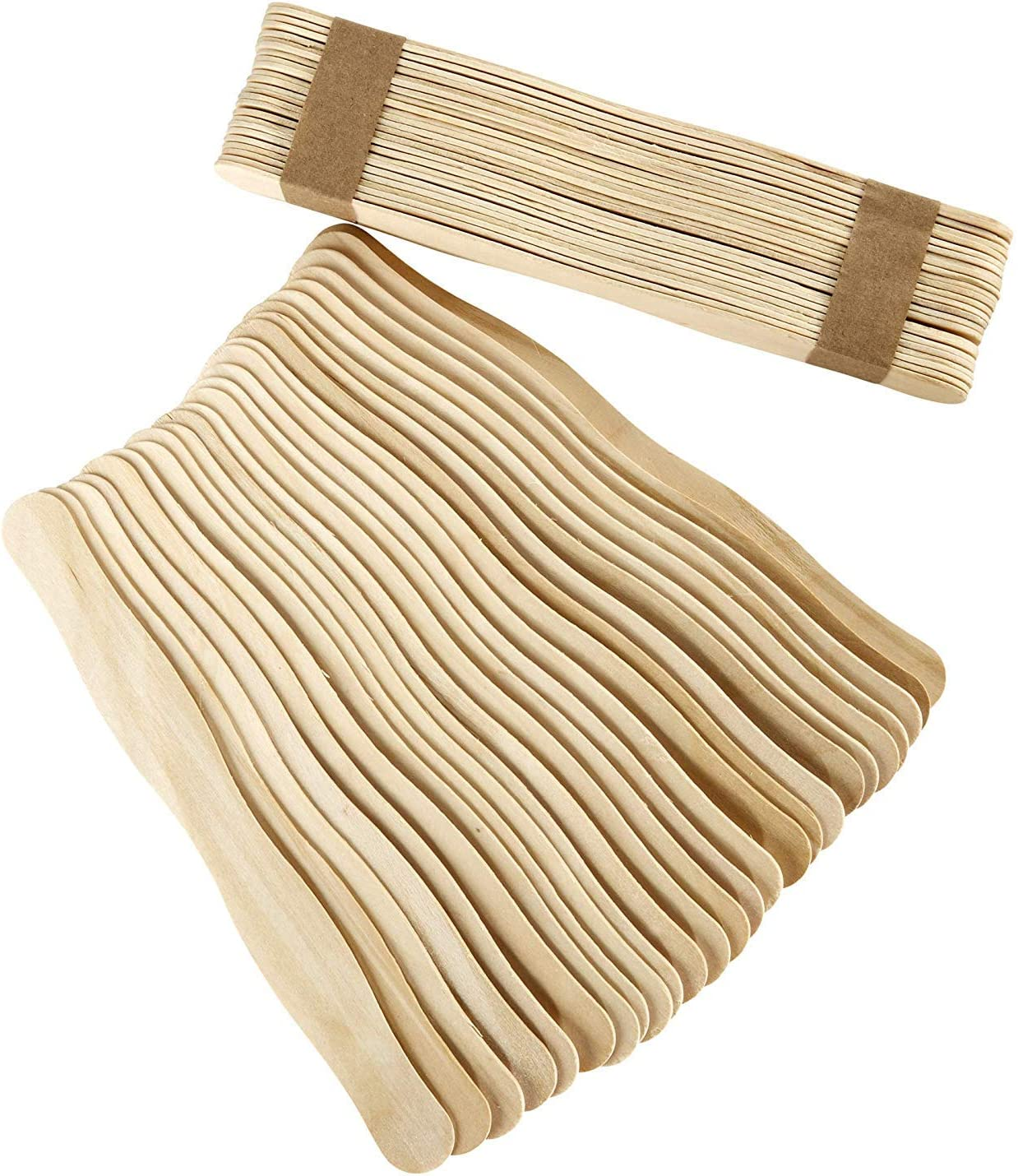 Wedding Fan Handles Craft Sticks 300pc Jumbo 8 Popsicles Great for Crafts Long Wooden /& Wavy Bulk Tongue Depressors Paint Sticks by Fedmax.