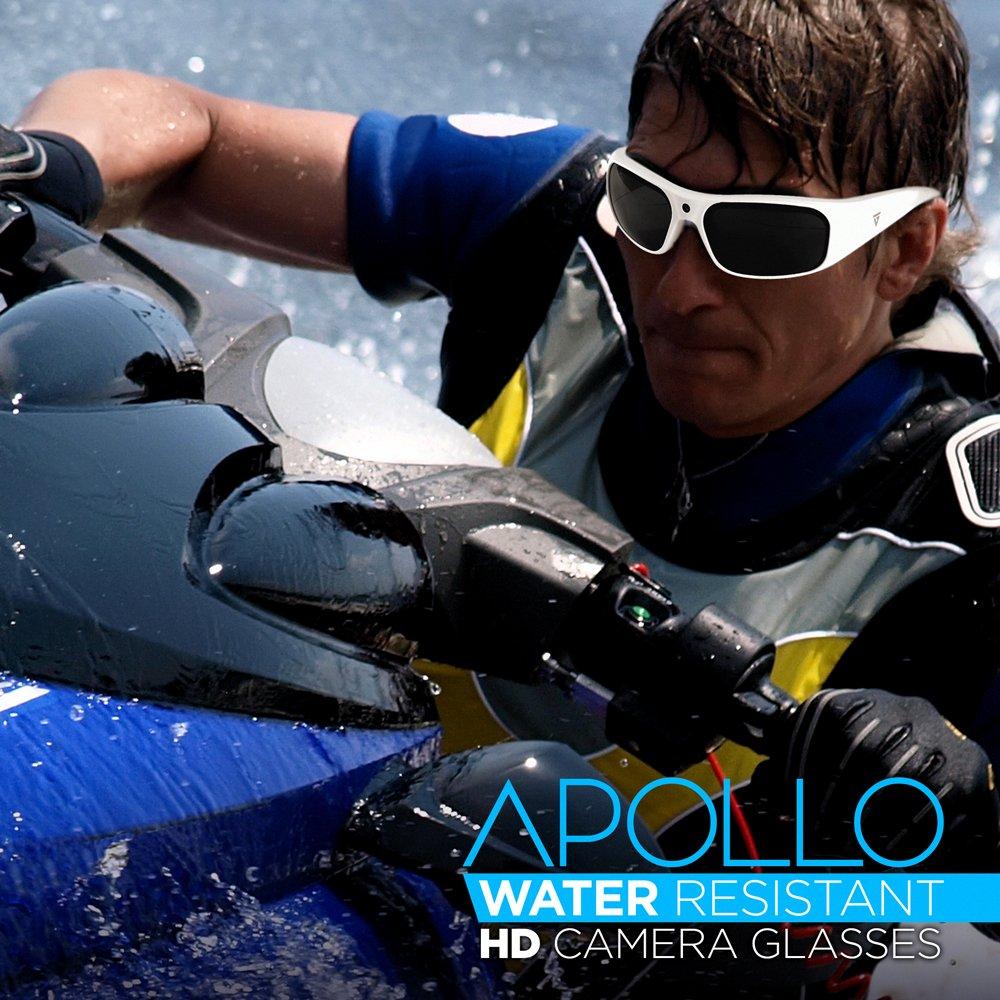 e623e7fc31 GoVision Apollo 1080p HD Camera Glasses Water Resistant Video Recording  Sport Sunglasses - Black