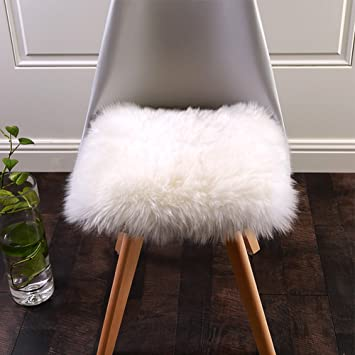 Amazoncom Softlife Square Faux Fur Sheepskin Chair Cover Seat