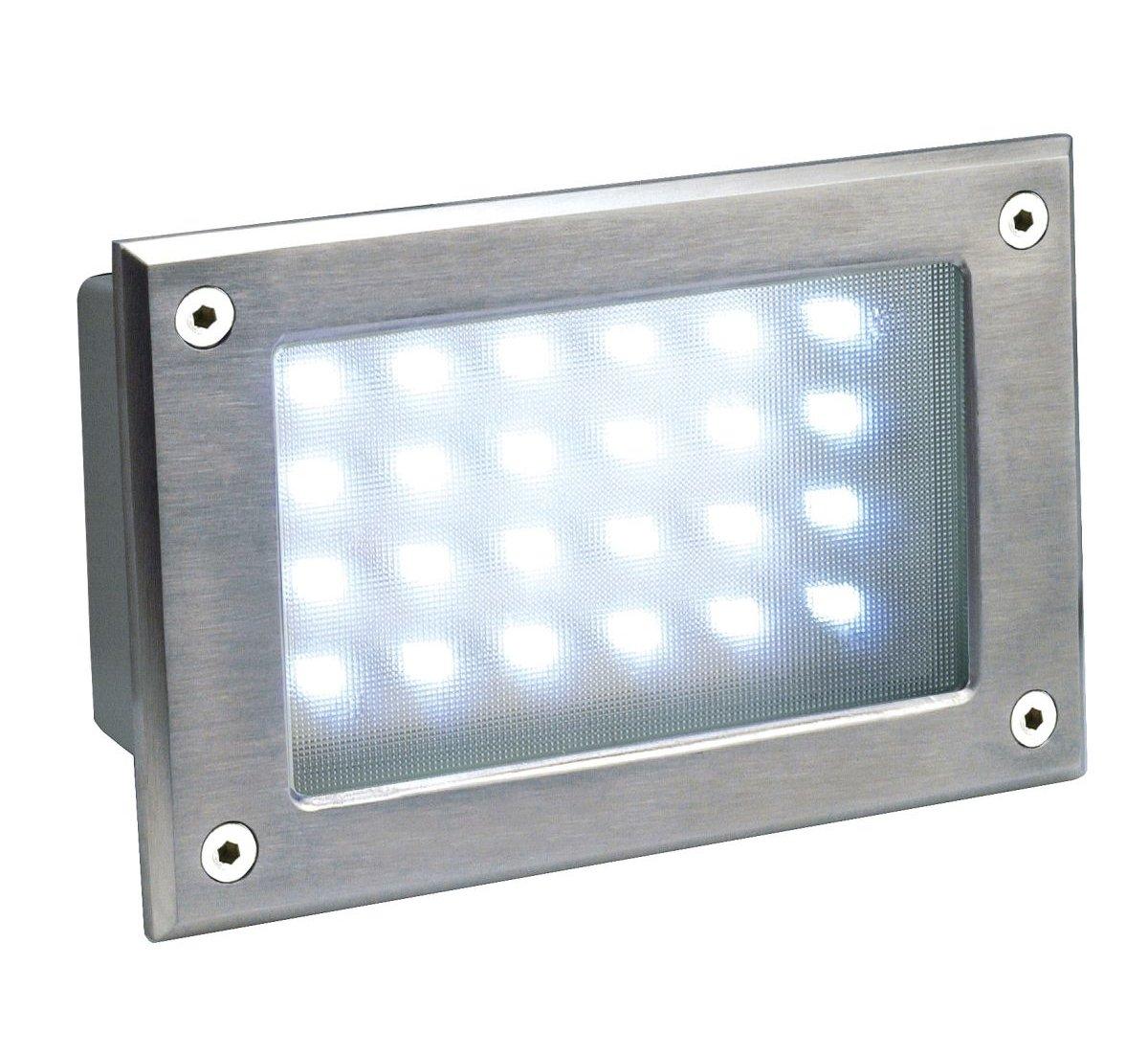 SLV Lighting 3229122U Brick LED Recessed Wall Lamp