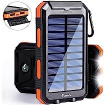 Amazon.com: Cargador solar 20000 mAh Banco de la energía ...