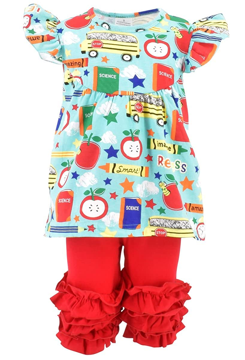819ca6a4d Amazon.com: Unique Baby Girls Back to School Recess Tunic Boutique Outfit:  Clothing