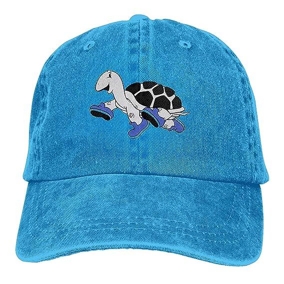 Adult Unisex Jeans Cap Adjustable Hat Sea Turtle Cotton Denim