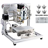 DIY CNC Router Kits 1310 GRBL Control 3 Axis Plastic Acrylic PCB PVC Wood Carving Milling Engraving Machine, XYZ Working Area 130x100x40mm CNC Router Machine By Beauty Star