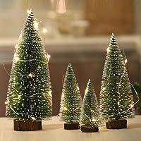 Acecoree Mini Cedro Árbol de Navidad con LED Miniatura Regalo para Navidad
