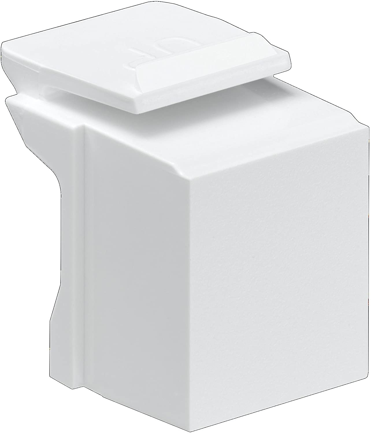 Leviton 41084-BW Blank Quickport Insert White 10-Pack
