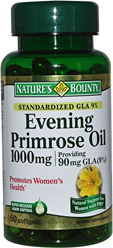 Nature's Bounty Evening Primrose Oil 1000 mg Softgels 60 ea Pack of 2