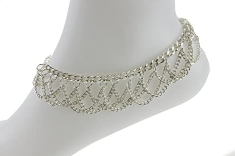 Silver Bell Payal Anklet Indian Bell Payal Anklet Pair Ankle Chain Foot Jewelery