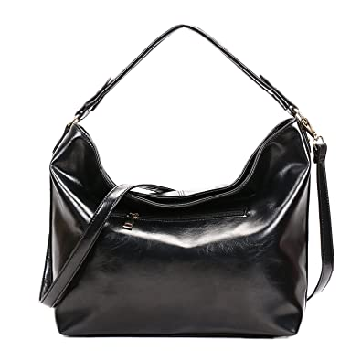 b26d249e87d Amazon.com  SIFINI Women Vintage PU leather Tote Bags Shoulder Bag Shopping  Bag Handbag (black)  Shoes