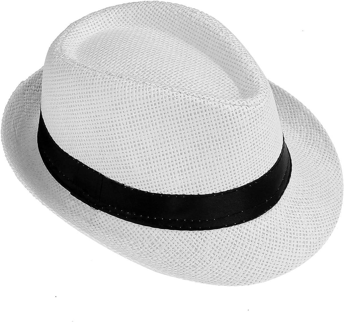 FALETO Kinder Jungen M/ädchen Panamahut Sonnenhut Sommerhut Beach Hut Strohhut Jazz Hut