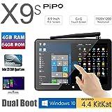 """TOZO X9S 64GB Mini Computer 8.9"""" 1920x1200 PC TV Box Desktop Intel Cherry Trail Z8350 Quad Core Windows10 Android 4.4 Kikat Dual Boot Mini PC 4GB RAM 64GB ROM"""