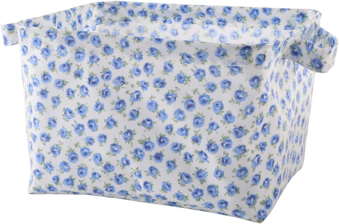 NEOVIVA Waterproof Fabric Storage Bins for Home Organization, Collapsible Storage Bin Set of 2 for Kitchen, Bathroom, Laundry, Closets and Shelf, Floral Violet Storm