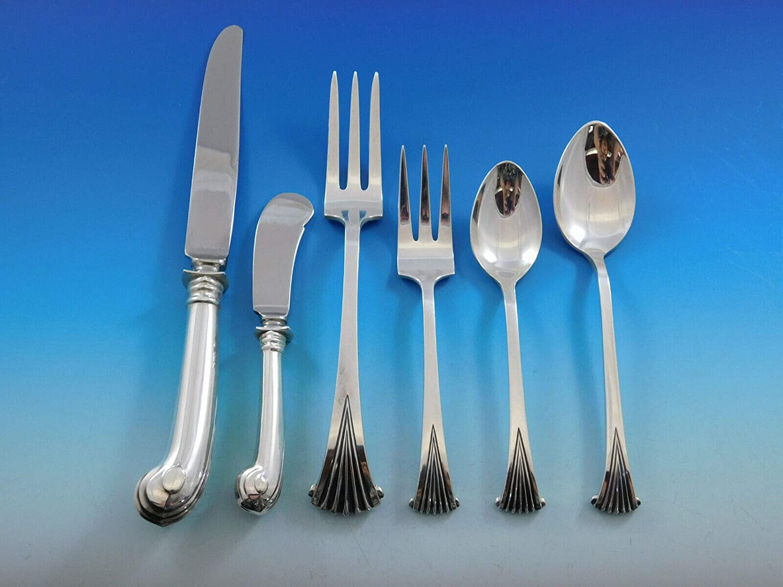 "Onslow by Tuttle Sterling Silver Salad Serving Fork All Sterling 8 3//4/"""