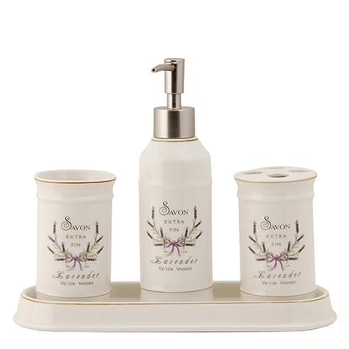 Clayre U0026 Eef 4 Teiliges Badezimmer Set Lavendel