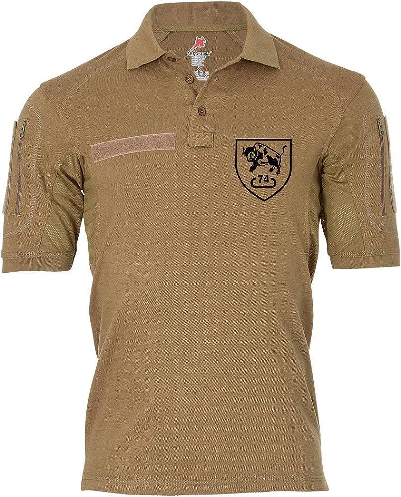 Tactical Poloshirt Alfa Tank Battalion74 PzBtl BW Germany Military Crest Badge