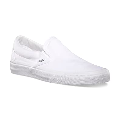 womens black and white slip on vans