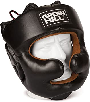 Kick Boxing Semi Contact Thai Kick Boxing Head Gear for Boxing Greenhill Castle Leather Head Guard Fighting and Combat Training