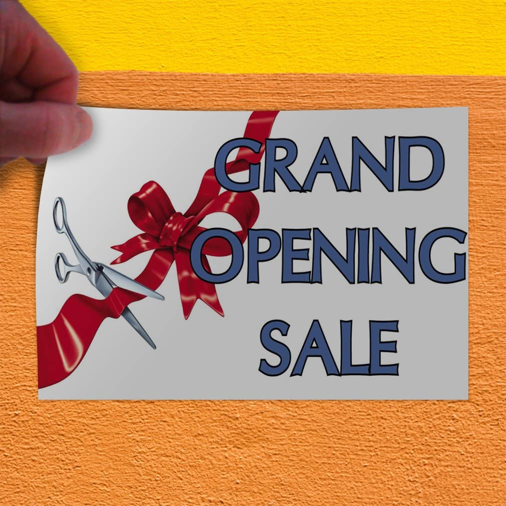 Decal Sticker Multiple Sizes Grand Opening Orange Advertisement Business Grand Opening Sale Outdoor Store Sign White Set of 2 52inx34in