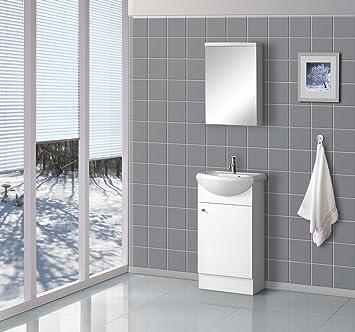 Dreamline Dlvrb 102 Wh 18 Inch Floor Standing Modern Bathroom Vanity - Contemporary-bathroom-vanities-from-dreamline