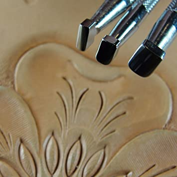 Smooth Beveler Stamps Japan Select 4-Piece Set, Leather Stamping Tools