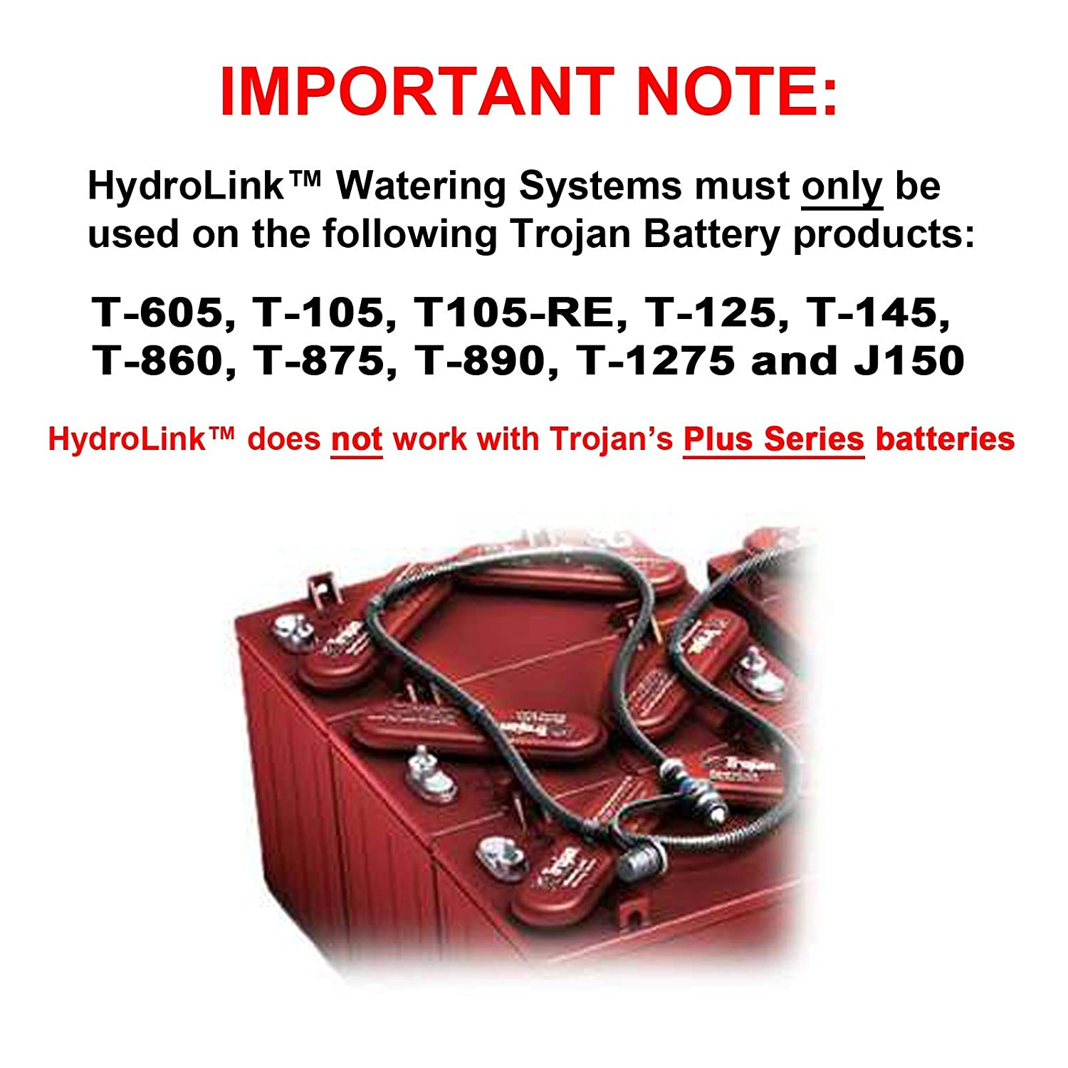 Trojan Hydrolink Watering Kit For Universal 24v Battery Batteries Wiring Diagram Free Download System Fast Usa Ship Electronics
