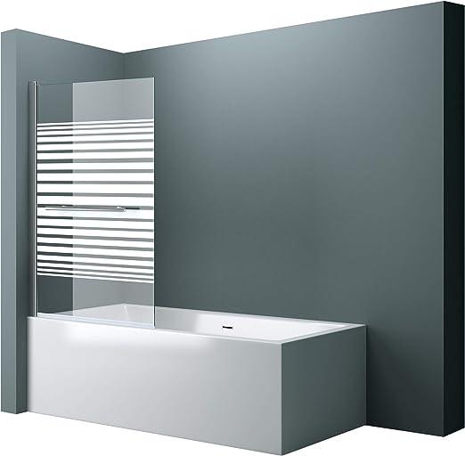 Ancho x Alto):94 x 143 cm. Diseño cortona1122, vidrio templado de 6 mm de cristal de seguridad satinado, incluyeNano revestimiento, mampara plegable para bañera.: Amazon.es: Bricolaje y herramientas