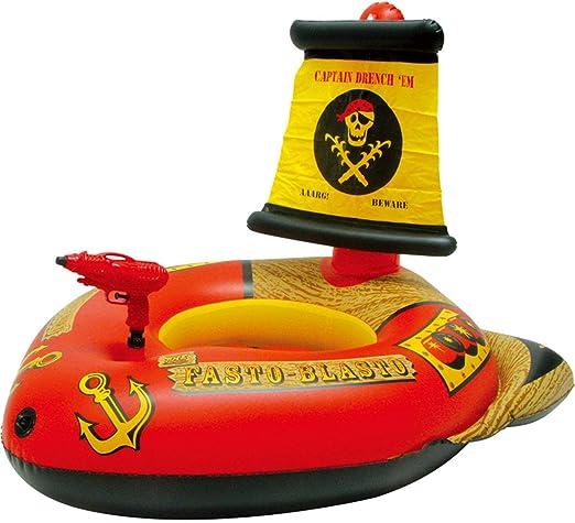 LVLONG Barco Pirata Inflable Juguetes de Entretenimiento natación ...