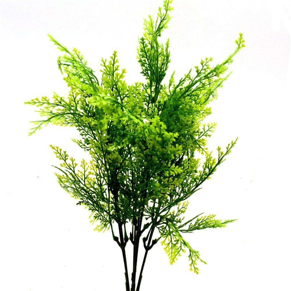 Cosanter 1pcs Foug/ères plante artificielle fausses plantes en pot d/écoration pour Maison Cuisine Salon 001 35cm
