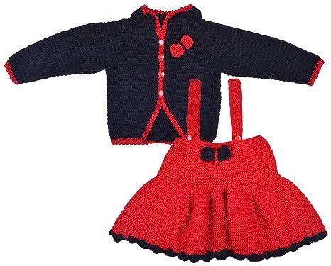 0b8711b23 Kuchipoo Girls  Hand Knitted Woollen Knee-Long Dress (KUC-WOL-105 2 ...