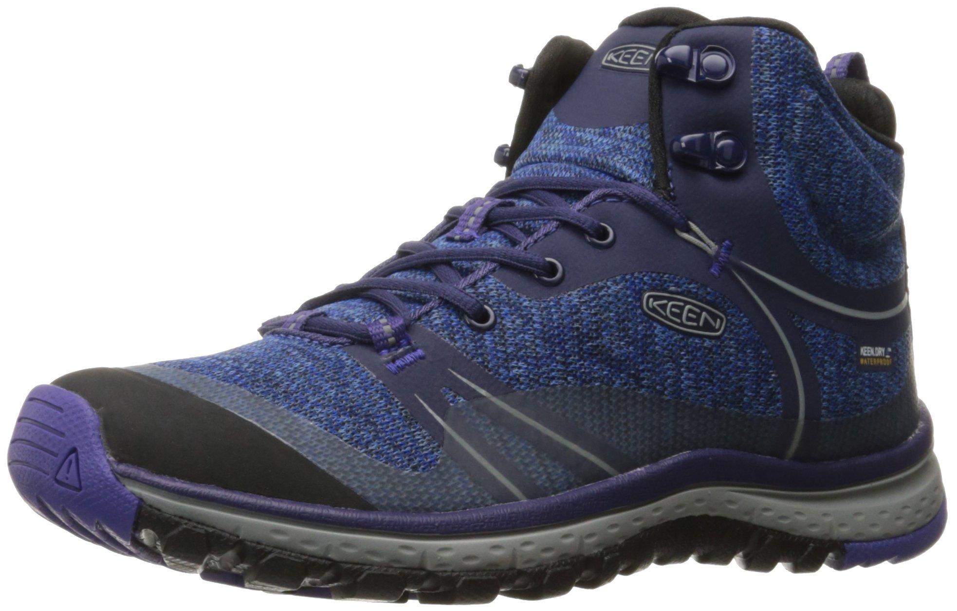 KEEN Women's Terradora Mid Waterproof Hiking Shoe, Astral Aura/Liberty, 6.5 M US