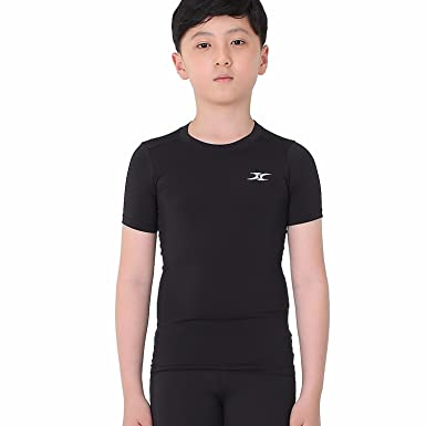 Amazon.com: Kids Compression Shirt Underwear Boys Youth Under Base ...