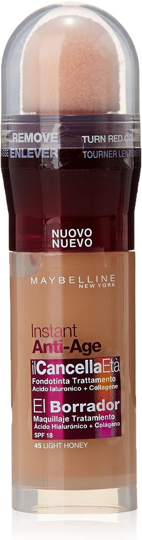 Maybelline New York - El Borrador Instant Anti Age, Corrector de Ojos, Tono 45 Light