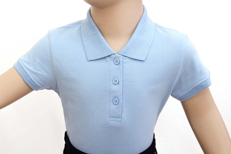 Girl Toppy Little Girls Short Sleeve Interlock Polo