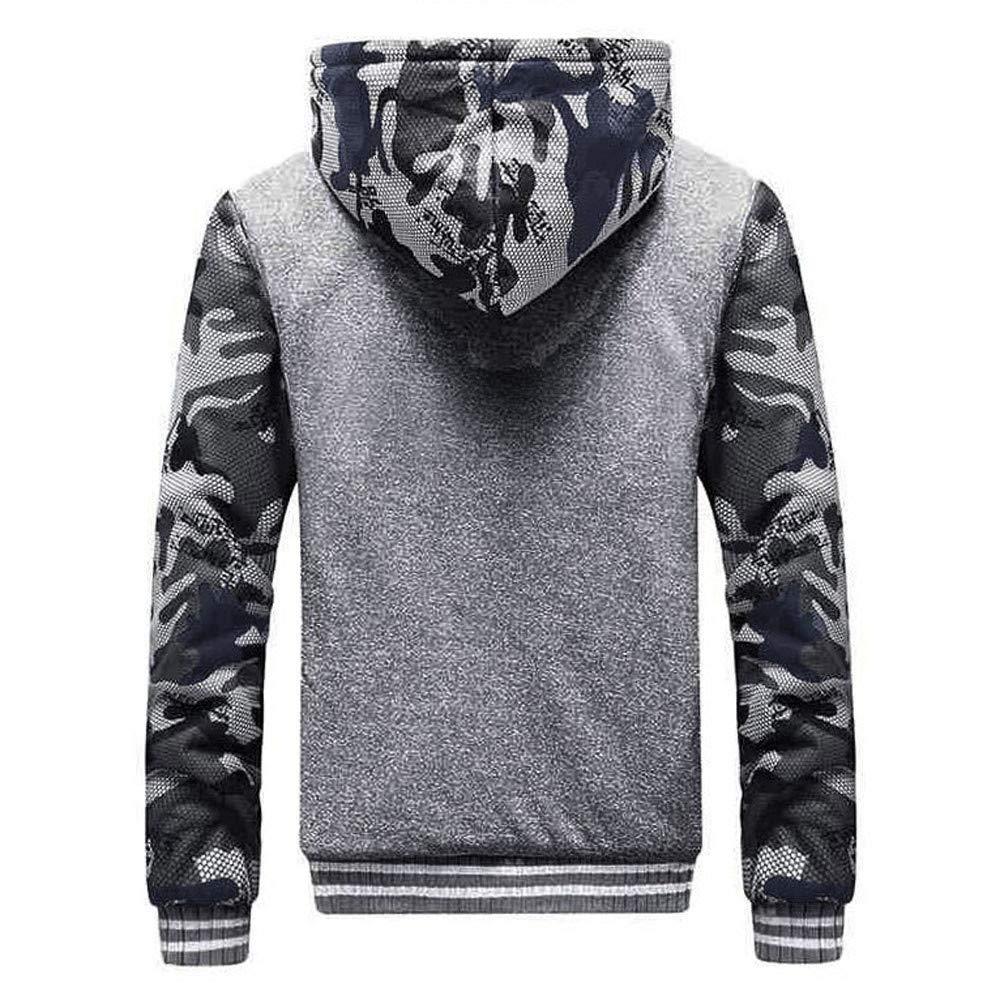 Gergeos Newest Men Jacket Winter Warm Plus Velvet Hood Zipper Sweater Outwear Coat Sportswear M-4XL
