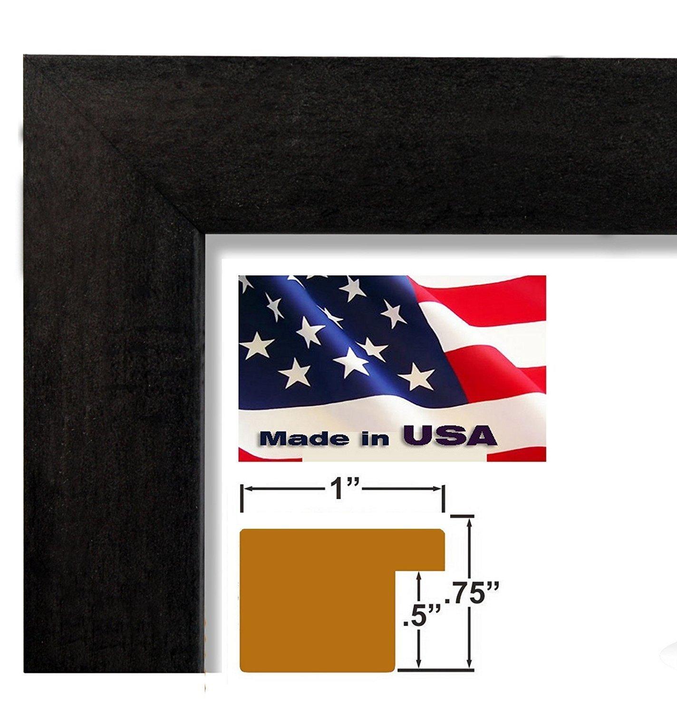Black 1 inch Framed Baby in Bath TUB, (Kids/Baby / Bathroom / 24-8X10-A) 8x10 inch Charlotte Becker, Art Print & Poster
