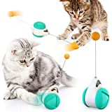 Interactive Cat Chasing Toys for Indoor Cats, Kitten Chaser Toys with Catnip Ball, Tumbler Balanced Exercise Wheel Toy…