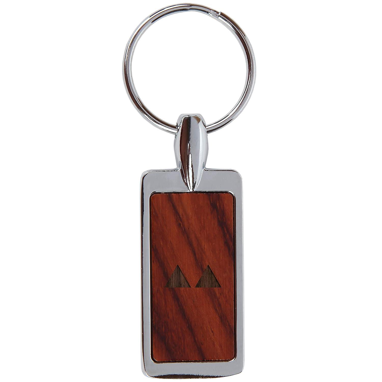 Llavero de madera de palisandro con diseño grabado láser ...