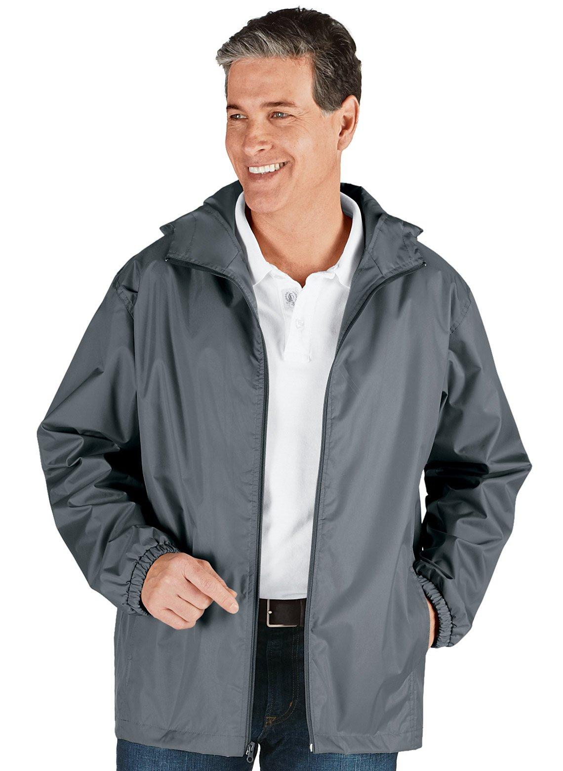 Carol Wright Gifts Lightweight Rain Jacket, Gray, Size Extra Large (3X)